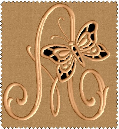 A from Cutwork Butterfly Font