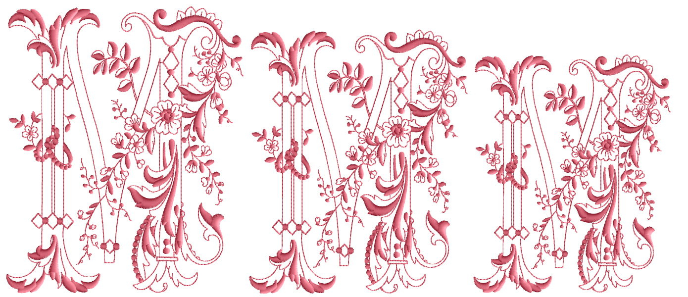 Enlaced-Romance-Embroidery-Designs-Alphabet M