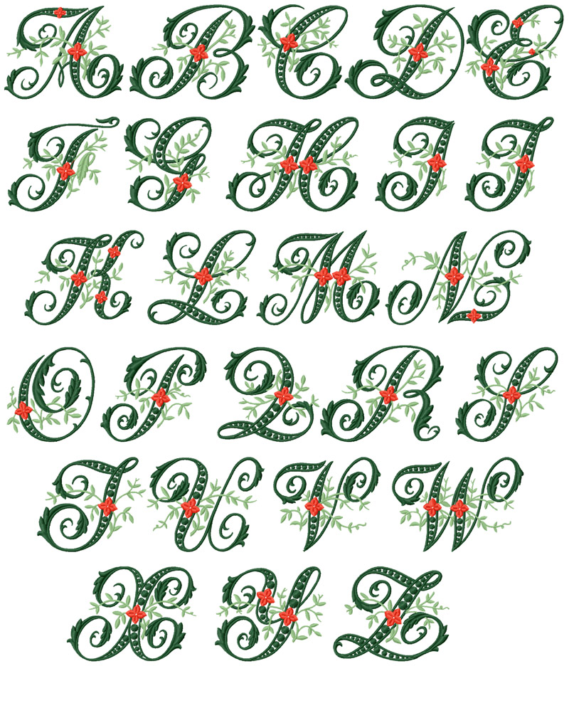 Wildwood Ivy Font machine embroidery designs
