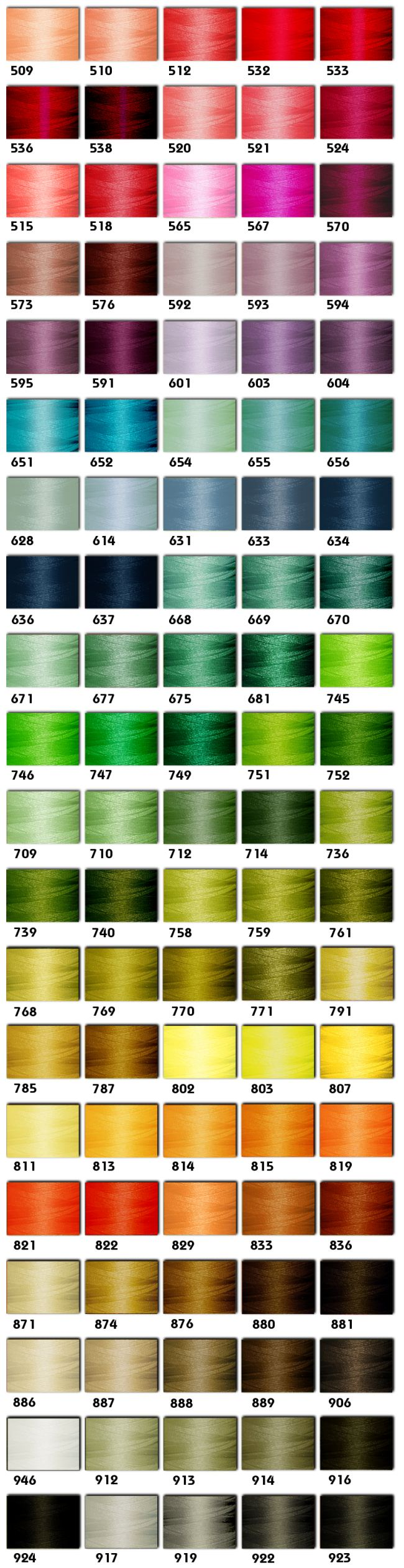 Polyester Embroidery Threads Kit 100 Colors