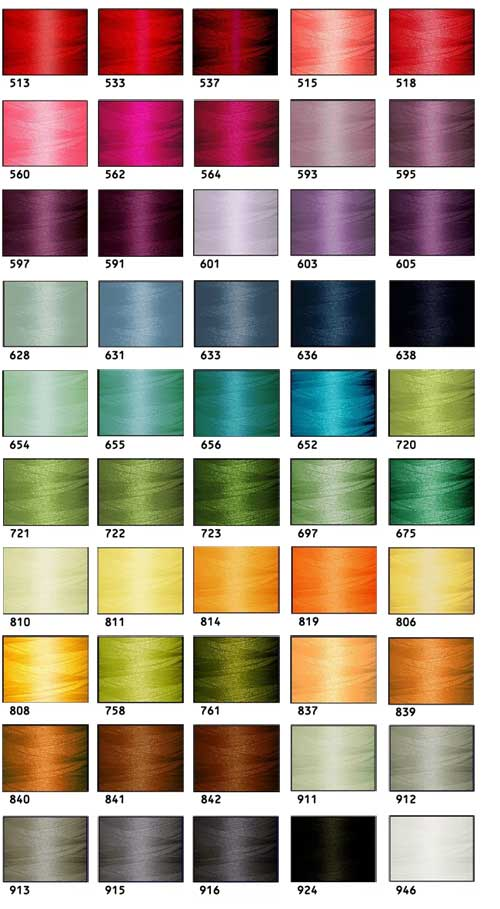 Polyester Embroidery Threads Kit 50 Colors