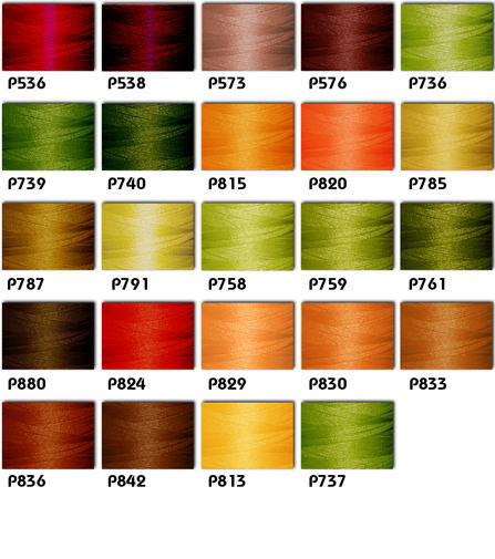 Polyester Embroidery Threads Kit 24 Fall Colors