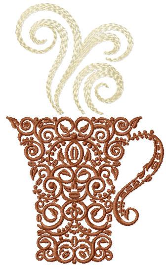 CoffeeCup embroidery design b   Coffeecup