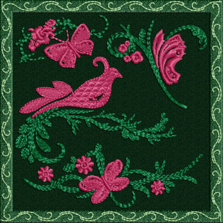 Garden on patches for Garden embroidery designs