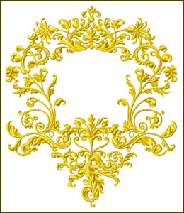 Frame 2  embroidery design