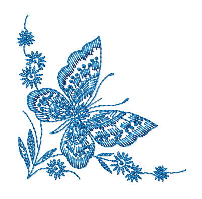 machine embroidery butterflies