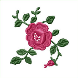 Rose 1 Embroidery Design