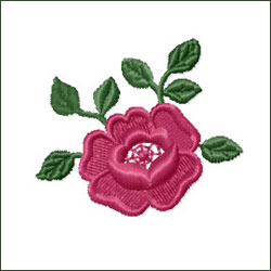 Rose 2 Embroidery Design