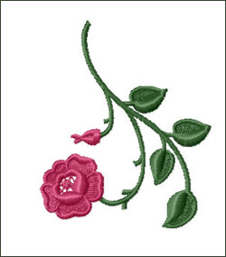 Rose 4 Embroidery Design