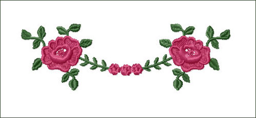 Roses Swag 2 Embroidery Design
