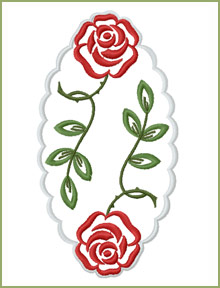 Large Doily embroidery design