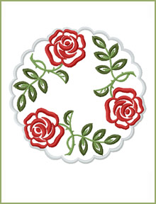 Medium Doily embroidery design