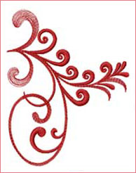 Flourishing Stem 2 embroidery design