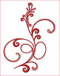 Flourishing Stem 3 embroidery design