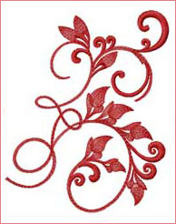 Vibrant Ivy 1  embroidery design