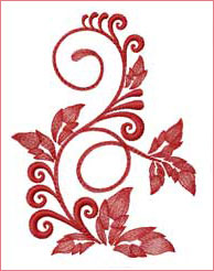 Vibrant Ivy 2  embroidery design
