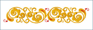 Curly Border embroidery designs