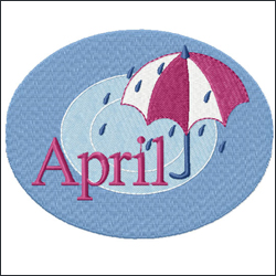 April embroidery designs