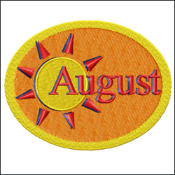 August embroidery designs