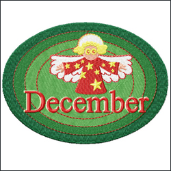 December embroidery designs