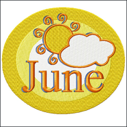June embroidery designs