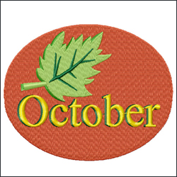 October embroidery designs