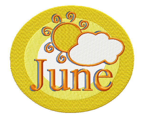 June from Twelve Month Gala Patches